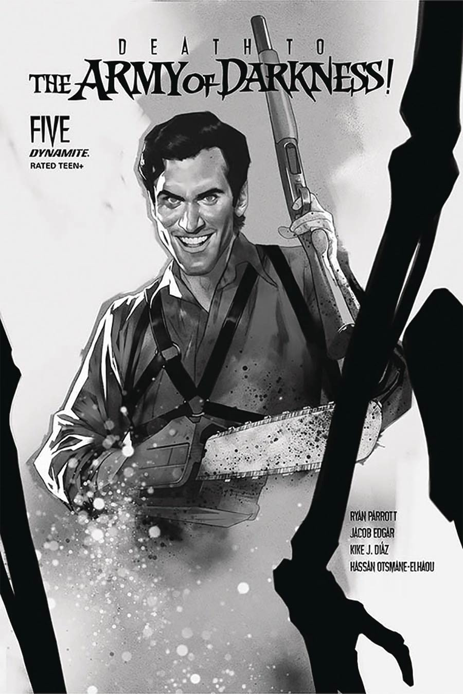 Death To The Army Of Darkness #5 Cover M Incentive Ben Oliver Black & White Cover