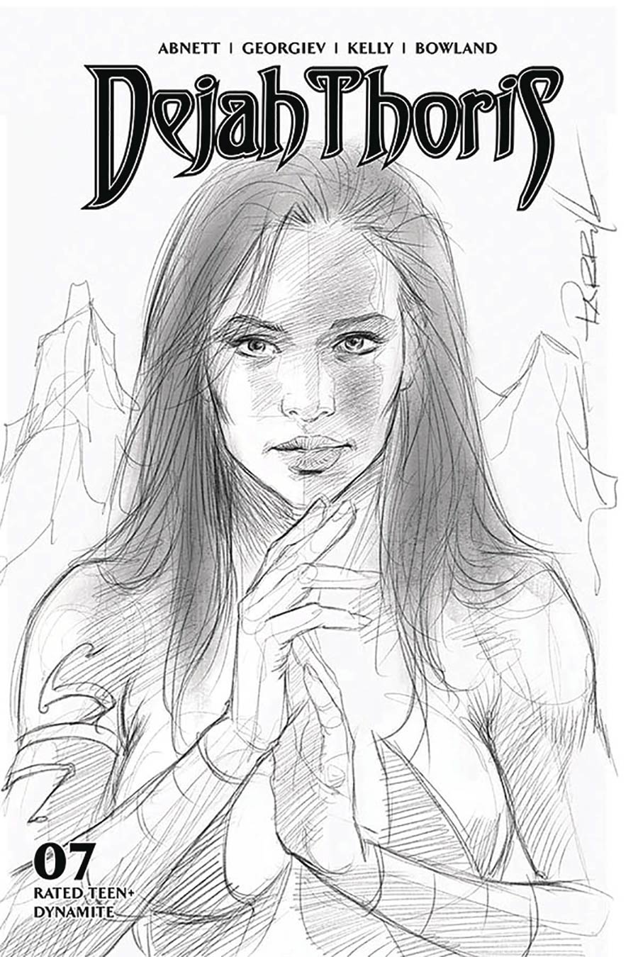 Dejah Thoris Vol 3 #7 Cover H Incentive Lucio Parrillo Black & White Cover
