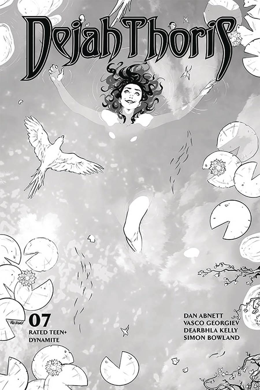 Dejah Thoris Vol 3 #7 Cover N Incentive Vasco Georgiev Black & White Cover