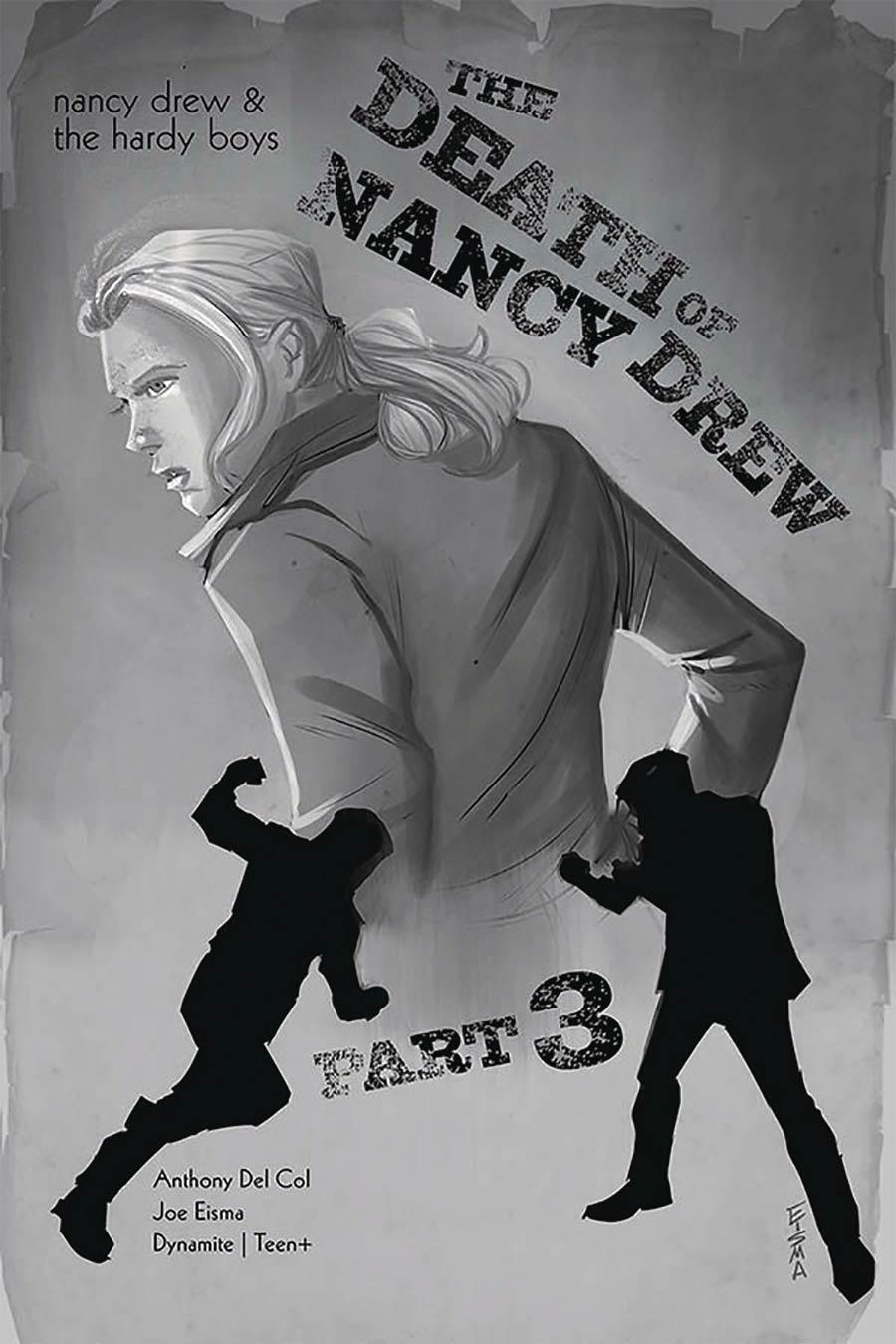 Nancy Drew And The Hardy Boys Death Of Nancy Drew #3 Cover B Incentive Joe Eisma Black & White Cover