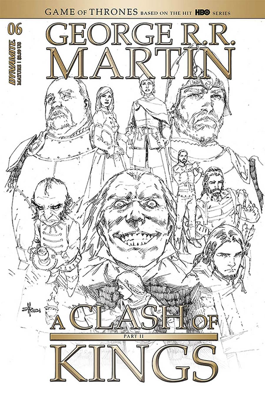 Game Of Thrones Clash Of Kings Vol 2 #6 Cover D Incentive Mel Rubi Black & White Cover
