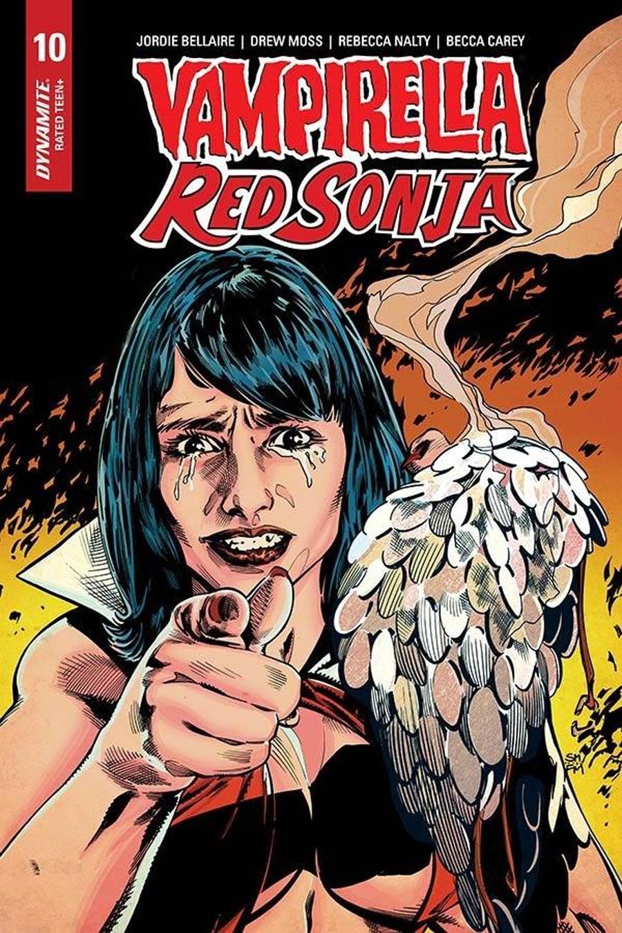 Vampirella Red Sonja #10 Cover H Incentive Stephen Mooney Frank Miller Homage Variant Cover