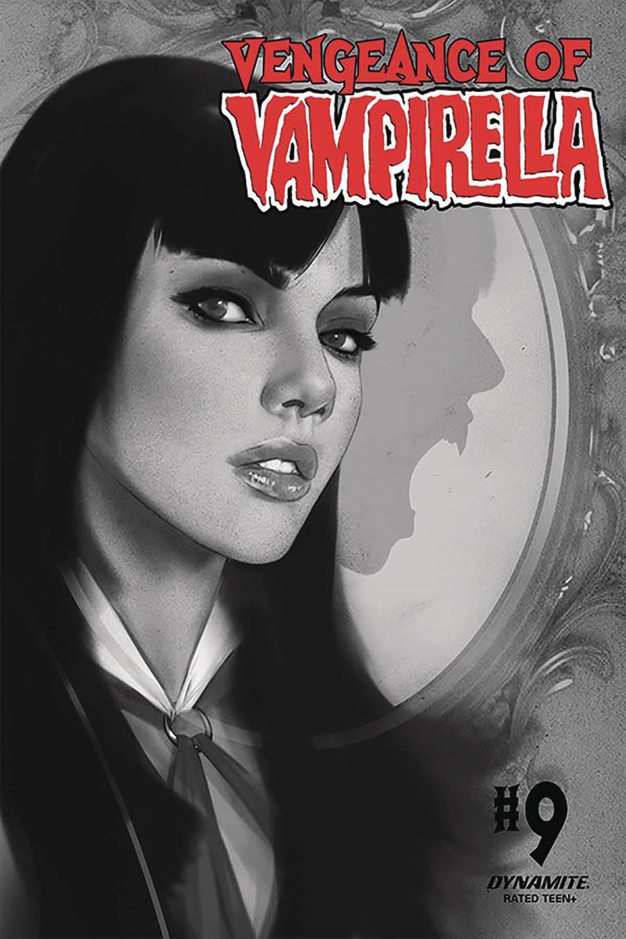 Vengeance Of Vampirella Vol 2 #9 Cover L Incentive Ben Oliver Black & White Cover