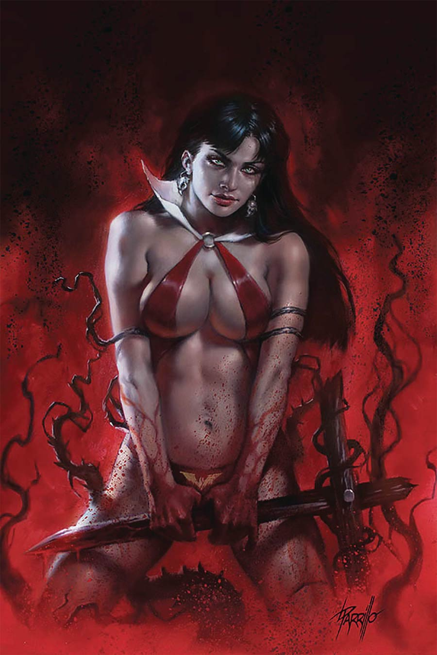 Vengeance Of Vampirella Vol 2 #9 Cover R Regular Lucio Parrillo Cover CGC Graded