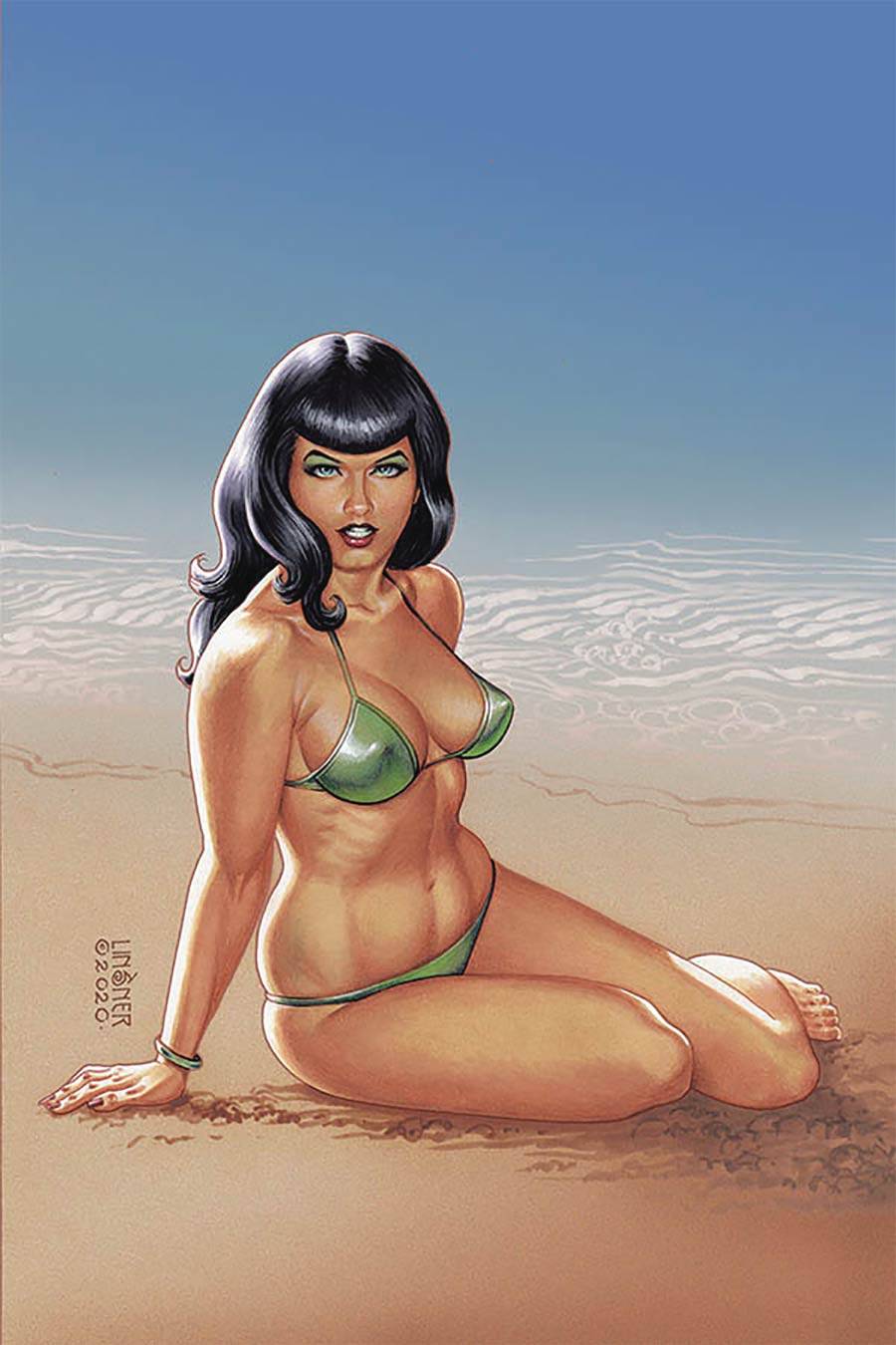 Bettie Page Vol 3 #1 Cover T Limited Edition Joseph Michael Linsner Virgin Cover