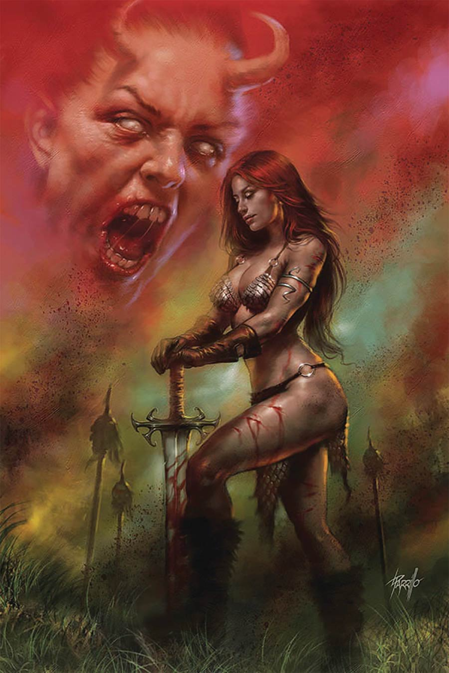 Red Sonja Age Of Chaos #6 Cover S Limited Edition Lucio Parrillo Virgin Cover