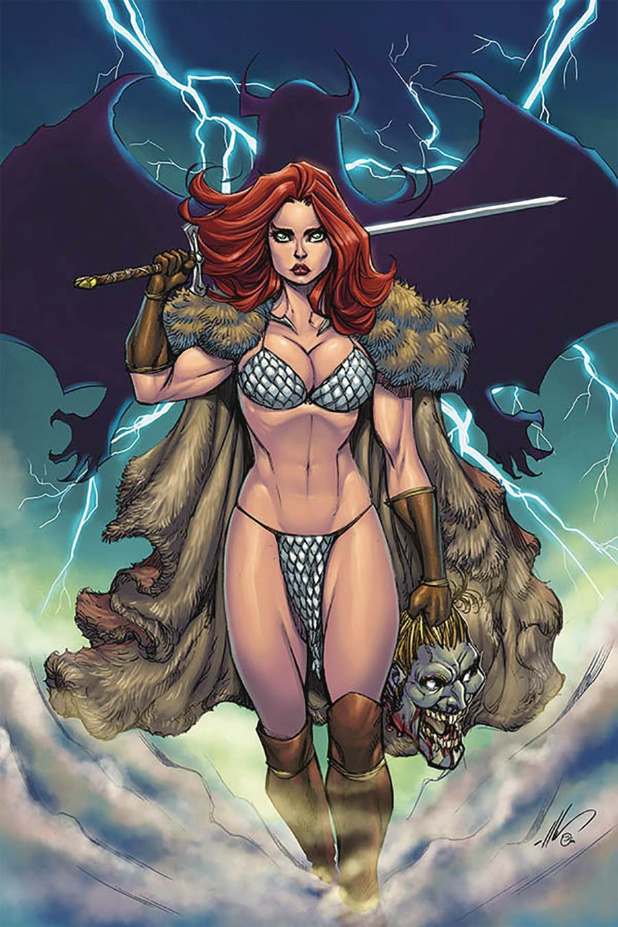 Red Sonja Age Of Chaos #6 Cover U Limited Edition Ale Garza Virgin Cover