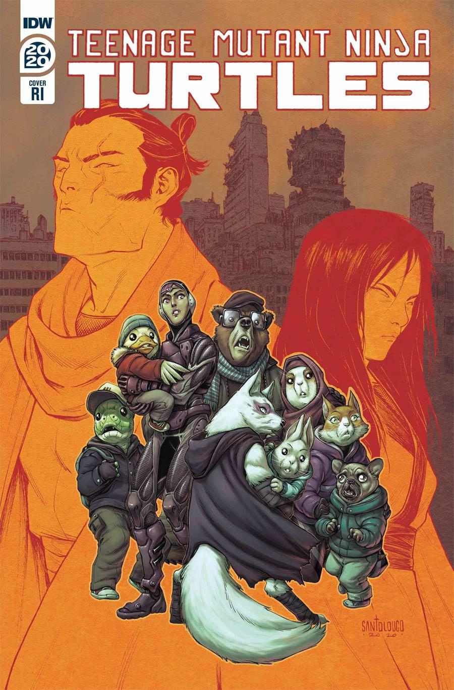 Teenage Mutant Ninja Turtles Vol 5 Annual 2020 Cover C Incentive Mateus Santolouco Variant Cover