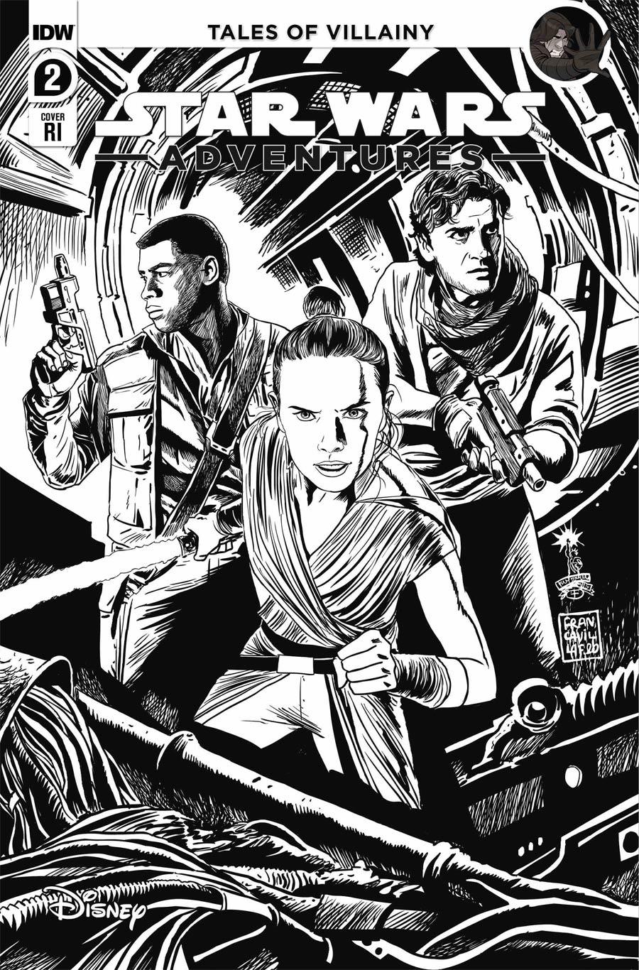 Star Wars Adventures Vol 2 #2 Cover C Incentive Francesco Francavilla Variant Cover