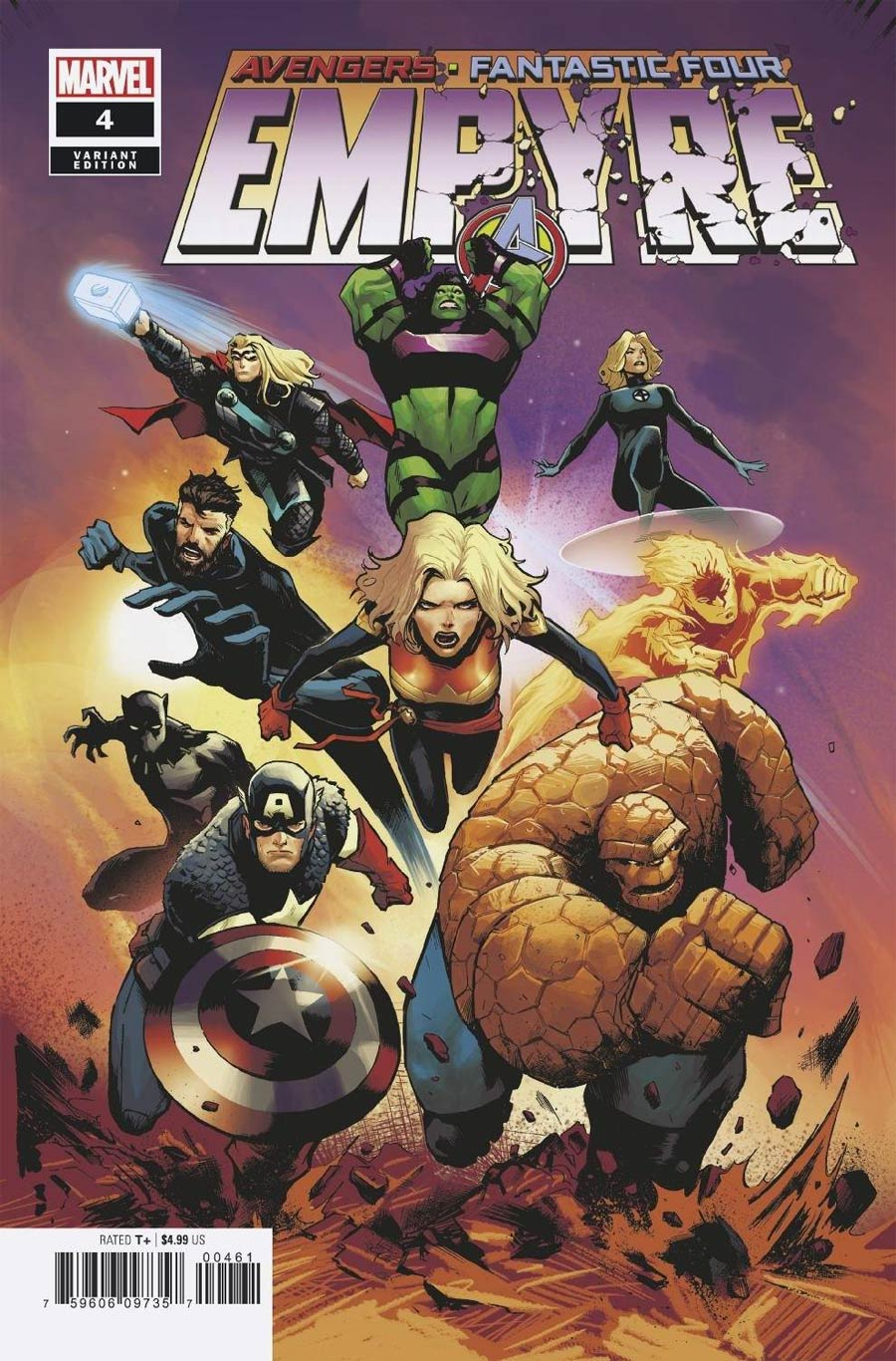 Empyre #4 Cover F Incentive Lee Garbett Variant Cover