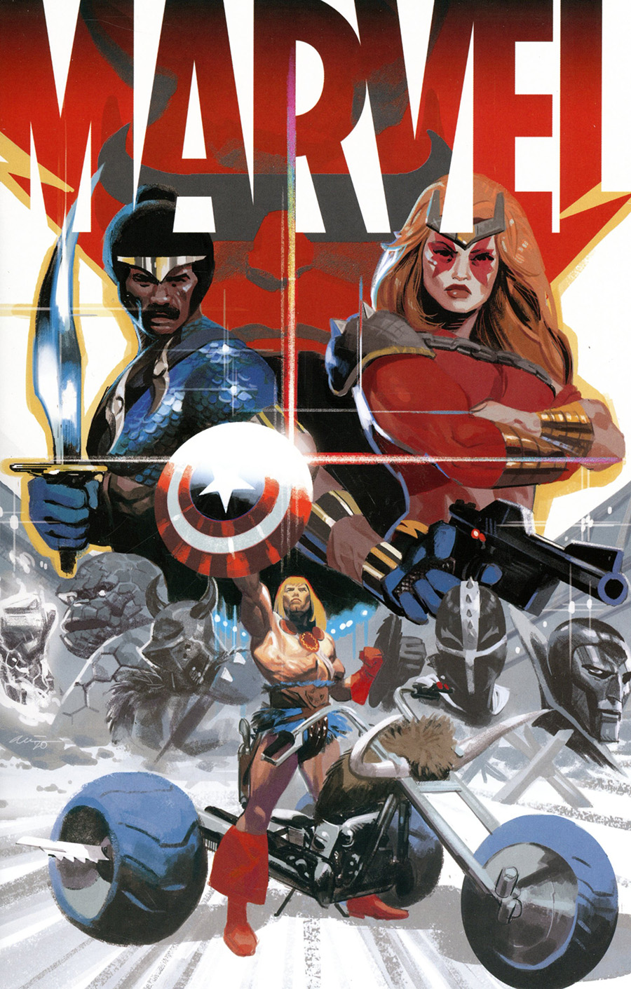 Marvel #4 Cover B Incentive Daniel Acuna Variant Cover