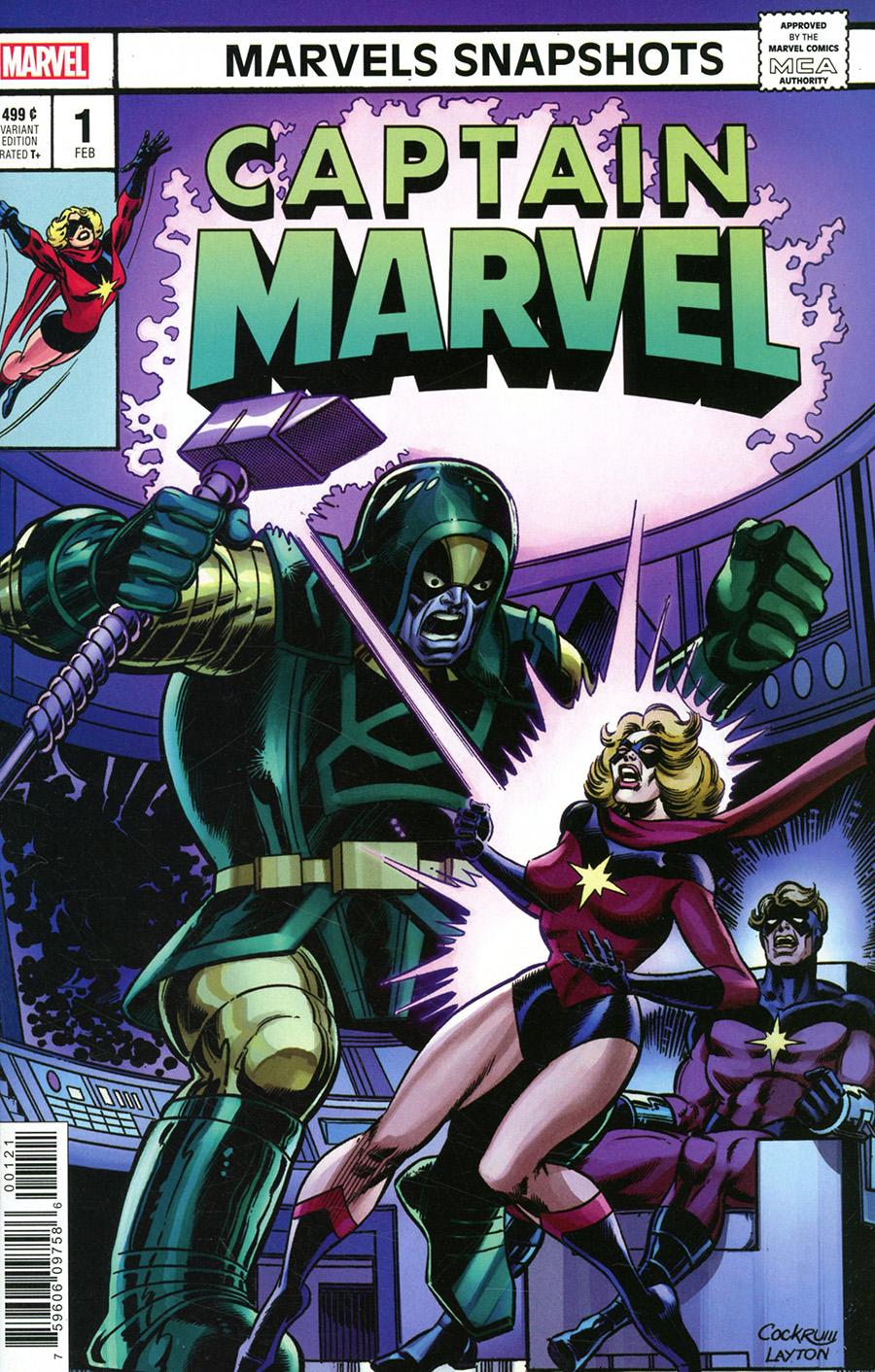 Captain Marvel Marvels Snapshots #1 Cover C Incentive Dave Cockrum Hidden Gem Variant Cover