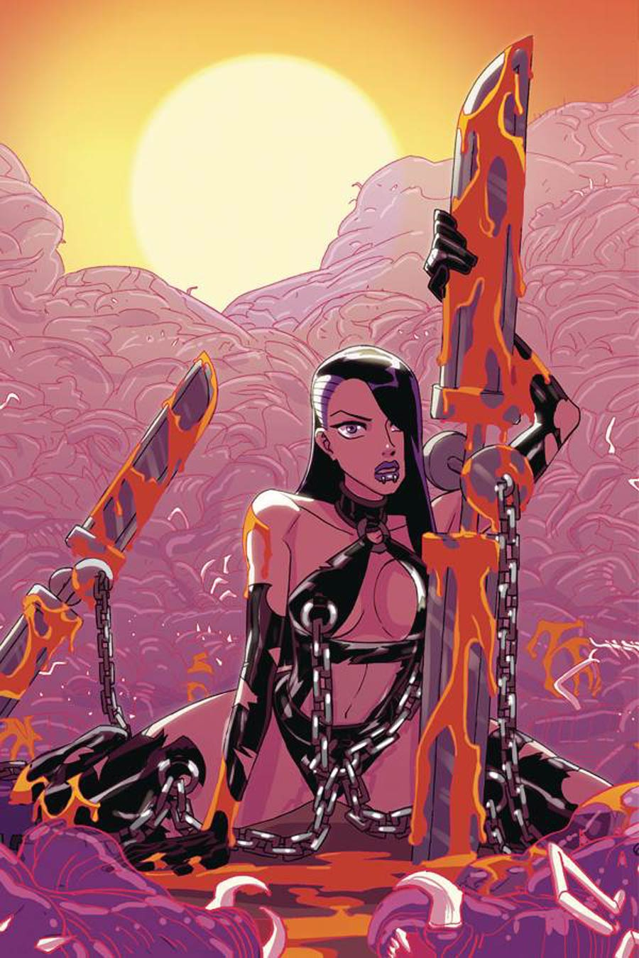 Vampblade Season 4 #50 Cover G Limited Edition Winston Young Virgin Cover