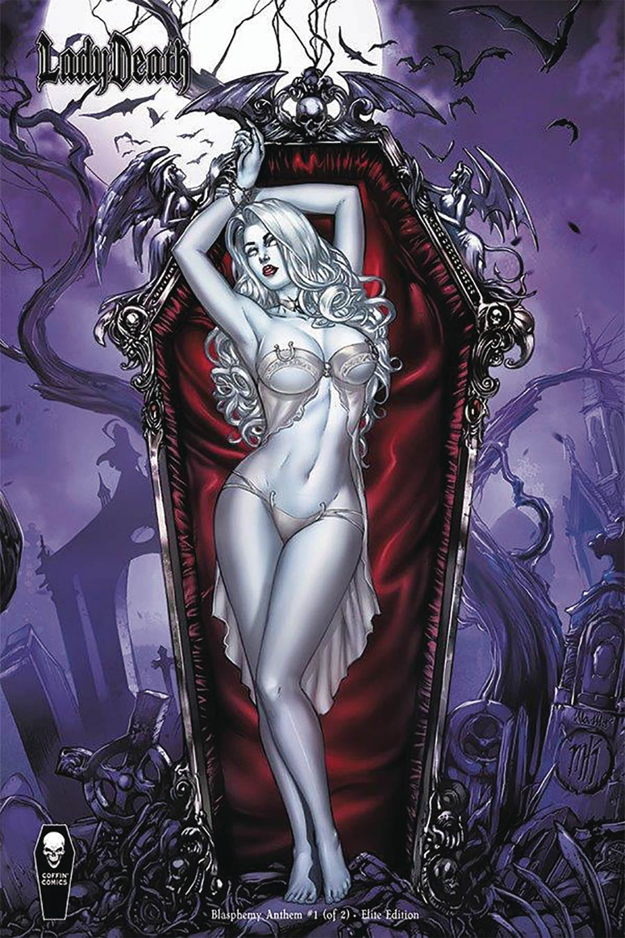 Lady Death Blasphemy Anthem #1 Cover E Incentive Mike Krome Elite Variant Cover