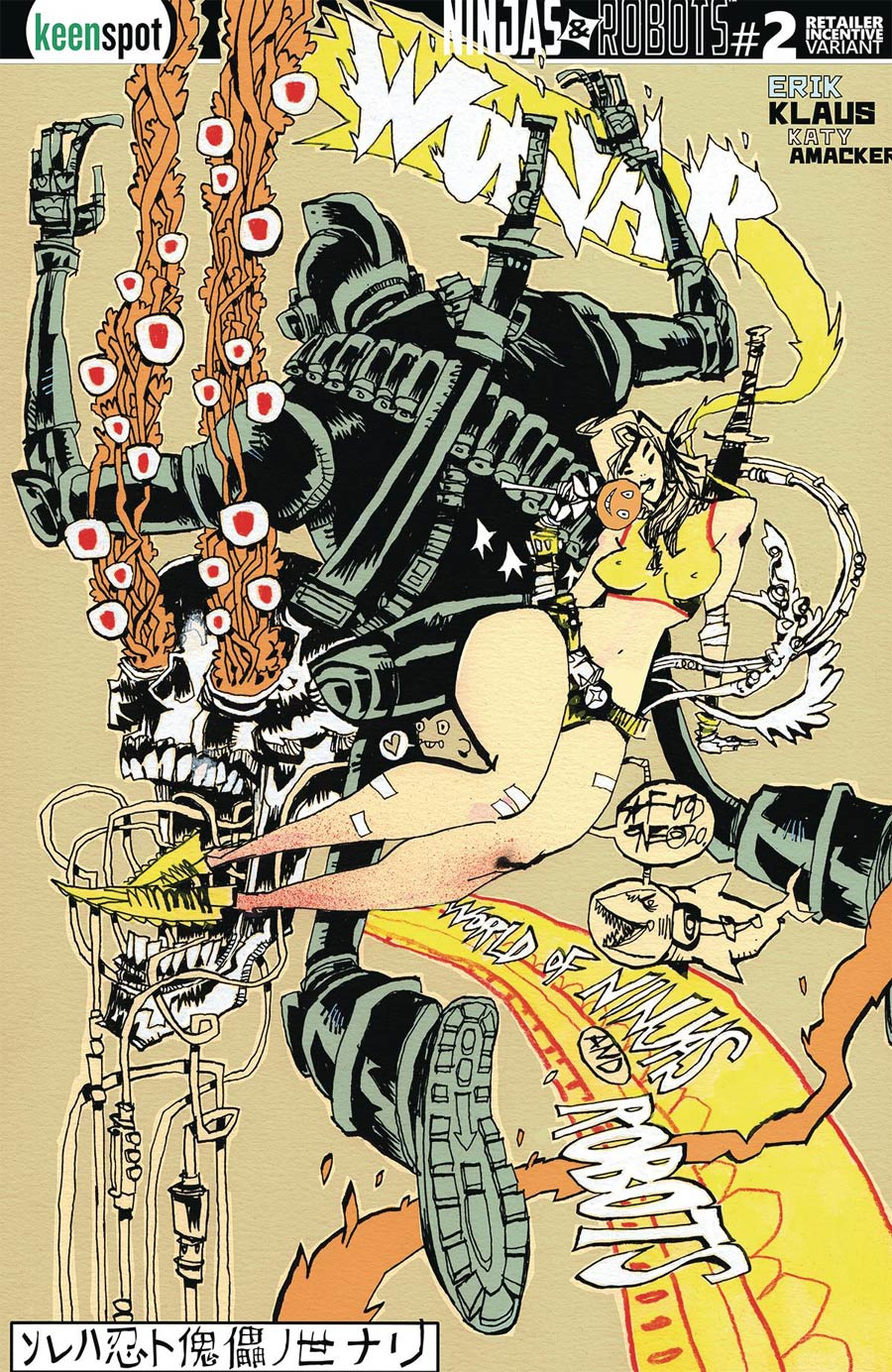 Ninjas And Robots #2 Cover E Incentive Jim Mahfood Variant Cover