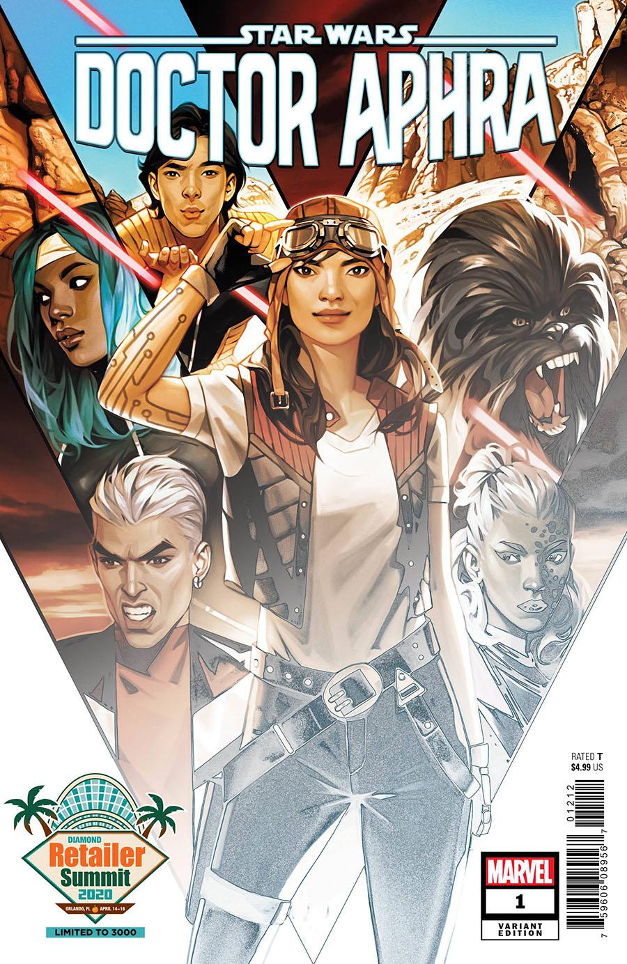 Star Wars Doctor Aphra Vol 2 #1 Cover E Retailer Summit 2020 Valentina Remenar Variant Cover