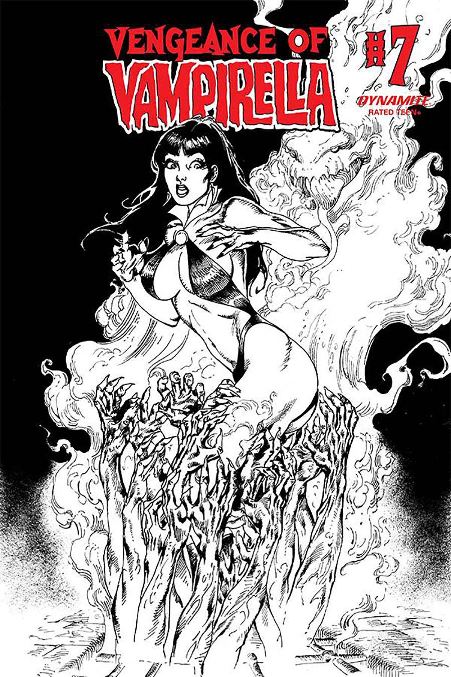 Vengeance Of Vampirella Vol 2 #7 Cover H Incentive Roberto Castro Black & White Cover