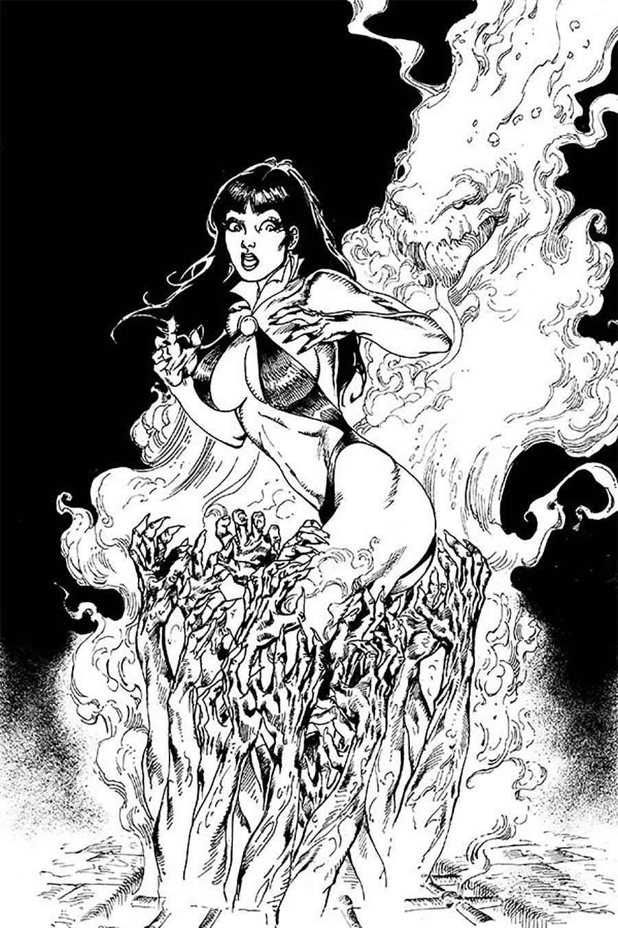 Vengeance Of Vampirella Vol 2 #7 Cover I Incentive Roberto Castro Black & White Virgin Cover