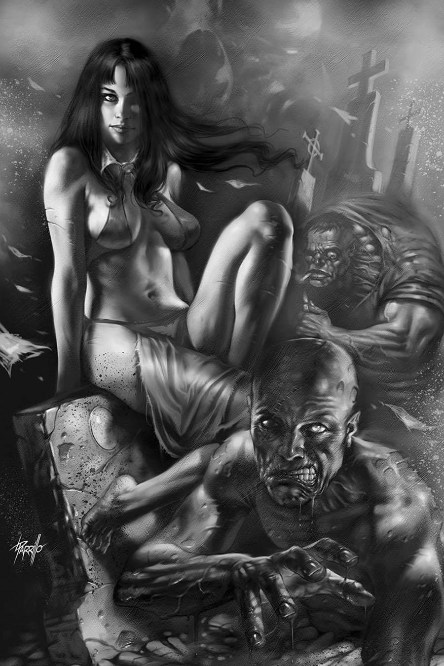 Vengeance Of Vampirella Vol 2 #7 Cover L Incentive Lucio Parrillo Black & White Virgin Cover