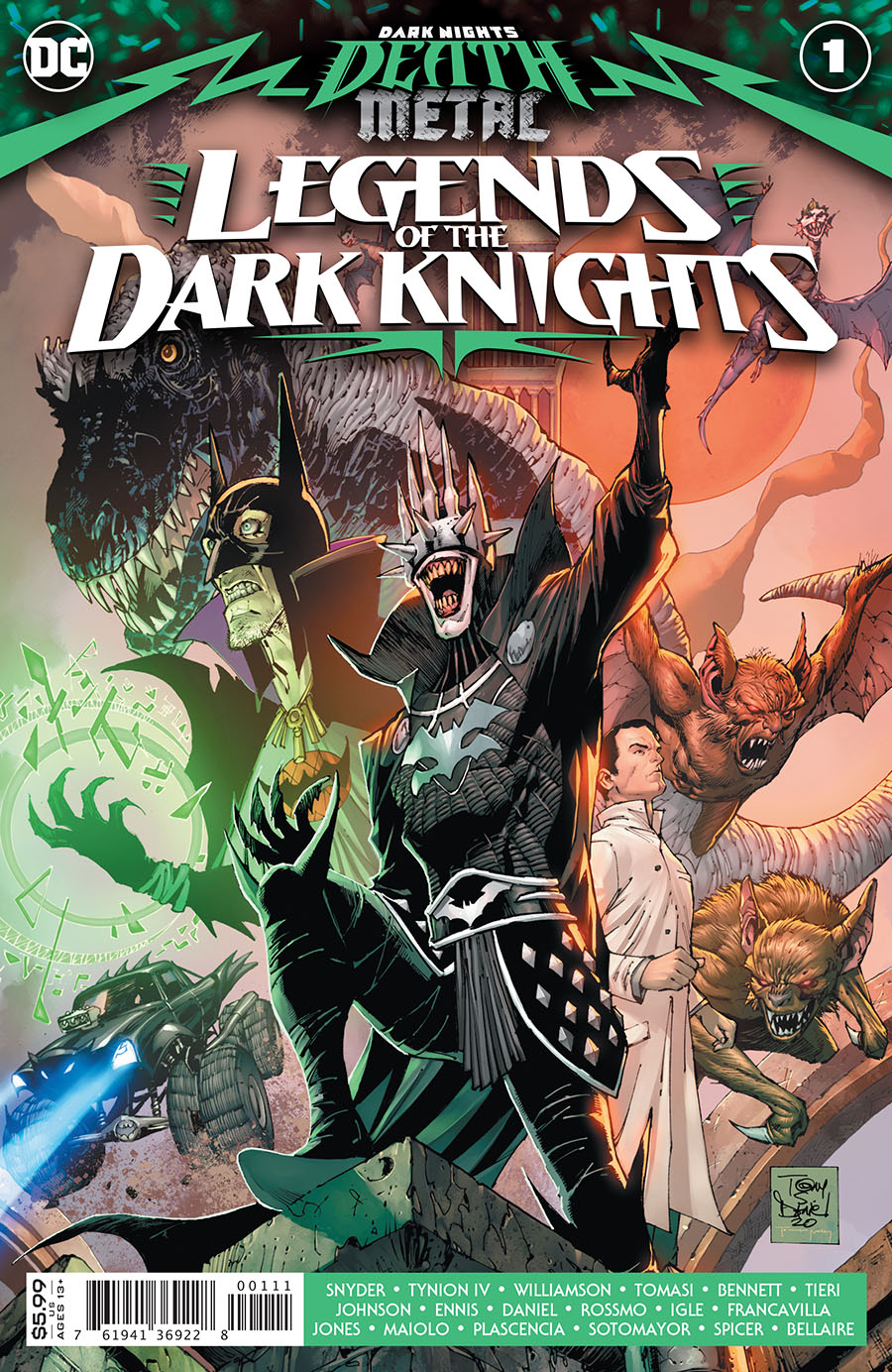 Dark Nights Death Metal Legends Of The Dark Knights #1 Cover A Regular Tony S Daniel Card Stock Cover