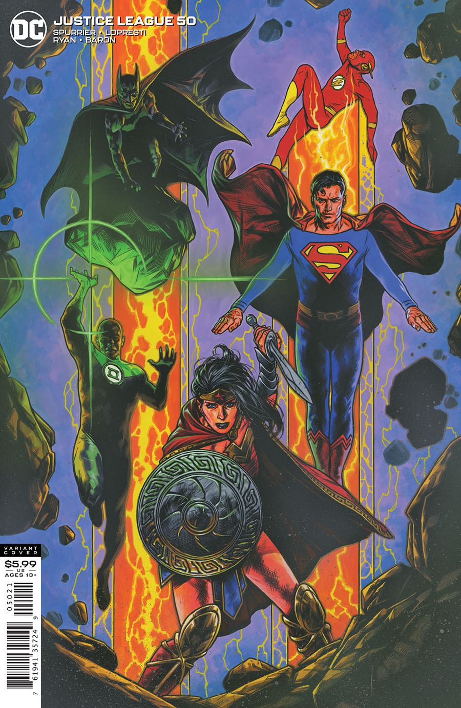 Justice League Vol 4 #50 Cover B Variant Travis Charest Cover