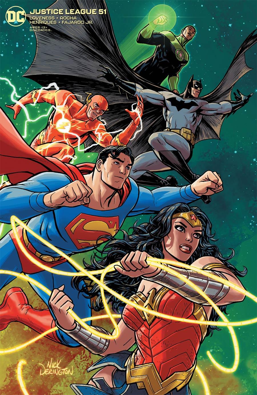 Justice League Vol 4 #51 Cover B Variant Nick Derington Cover