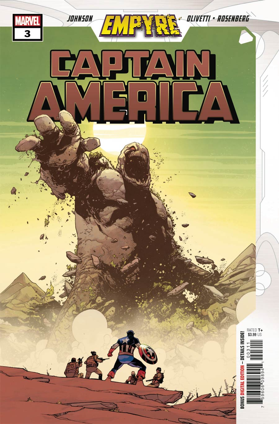 Empyre Captain America #3 Cover A Regular Mike Henderson Cover