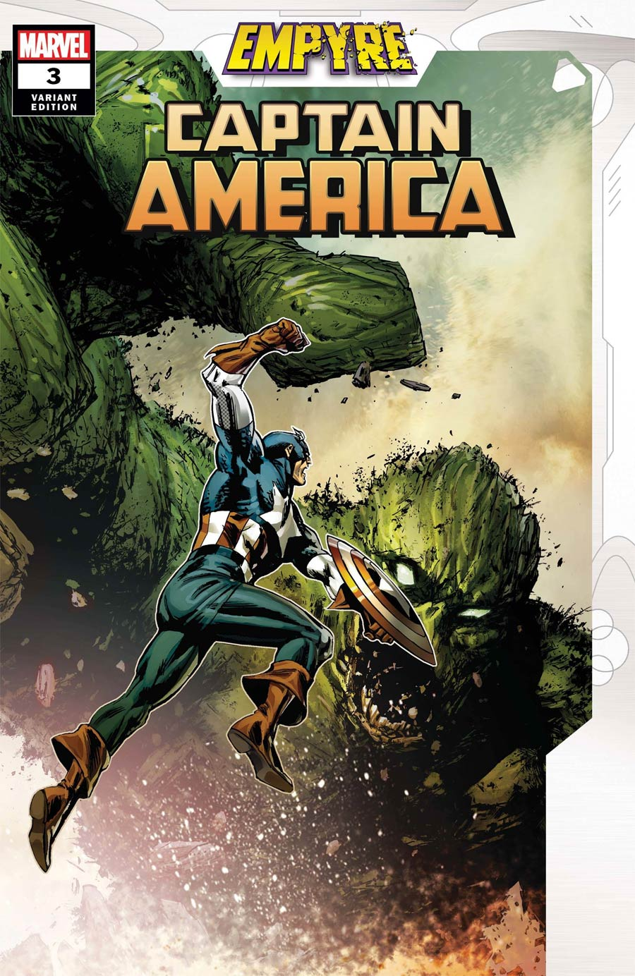 Empyre Captain America #3 Cover B Variant Butch Guice Cover