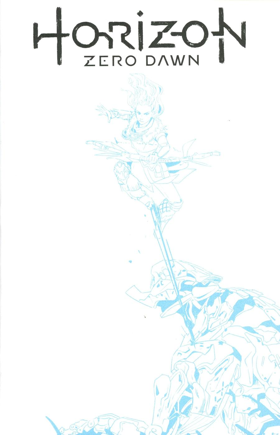 Horizon Zero Dawn #1 Cover F Variant Blue Line Sketch Cover