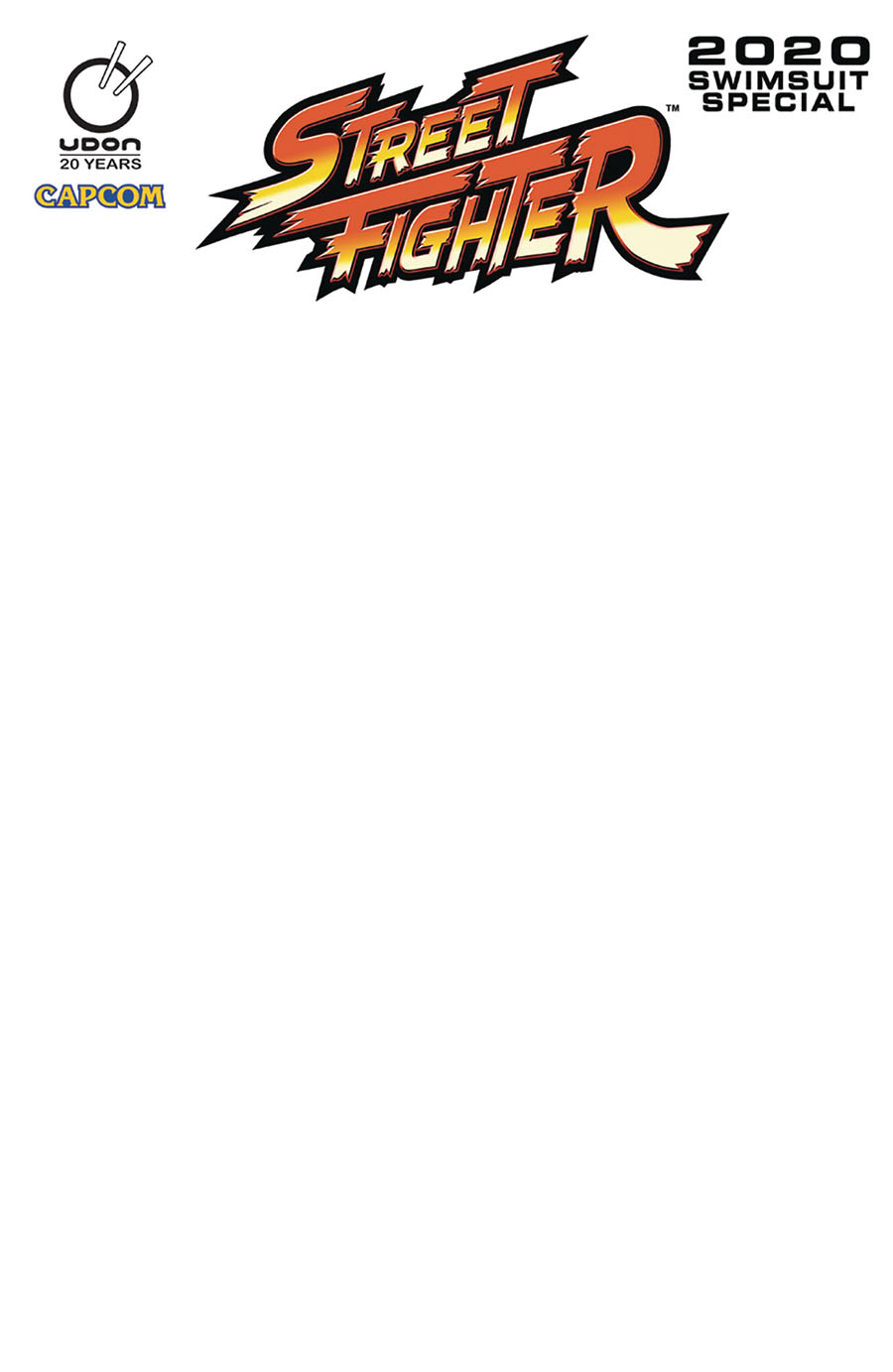 Street Fighter 2020 Swimsuit Special #1 Cover C Variant Blank Cover