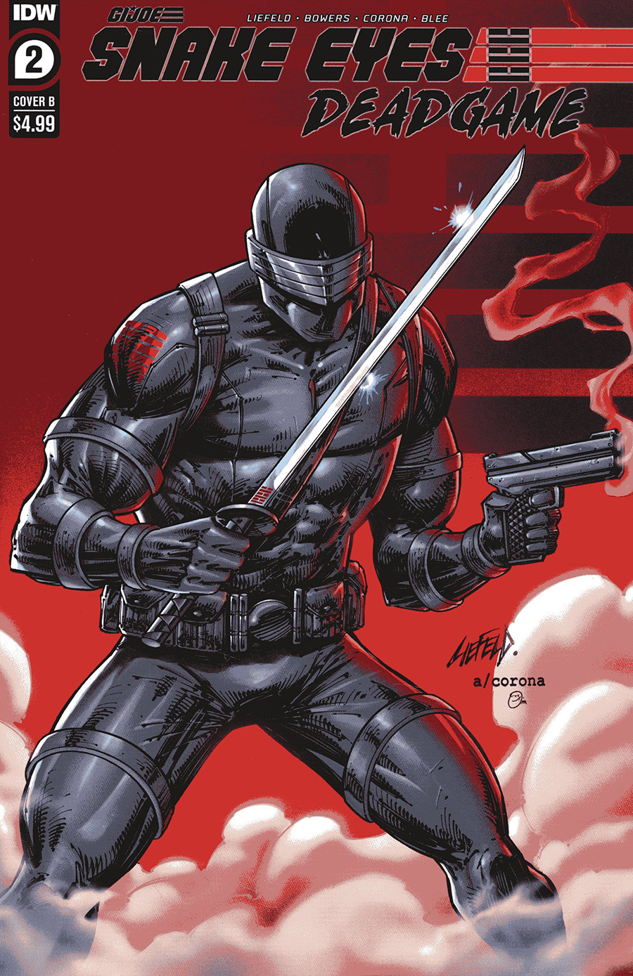Snake Eyes Deadgame #2 Cover B Variant Rob Liefeld Cover