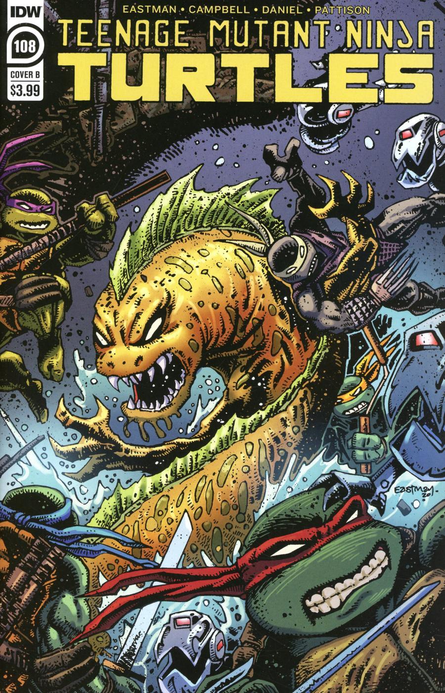 Teenage Mutant Ninja Turtles Vol 5 #108 Cover B Variant Kevin Eastman Cover