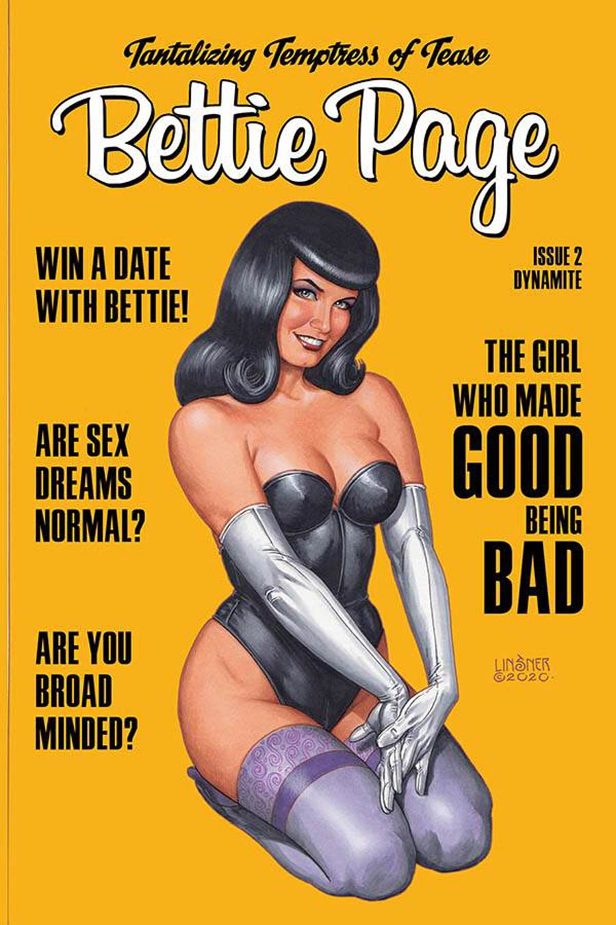 Bettie Page Vol 3 #2 Cover C Variant Joseph Michael Linsner Cover