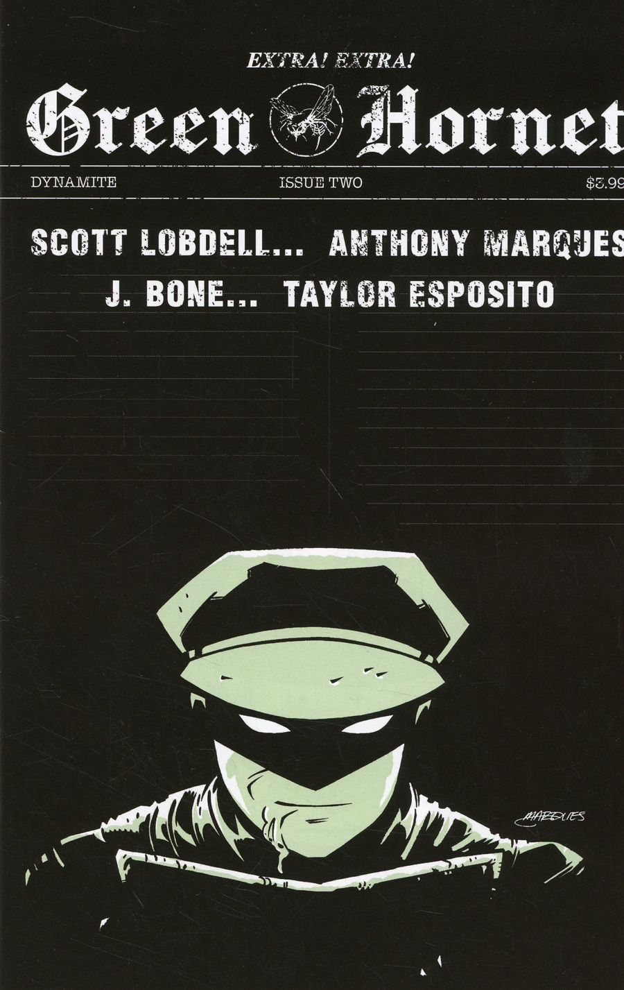 Green Hornet Vol 5 #2 Cover B Variant Anthony Marques Cover