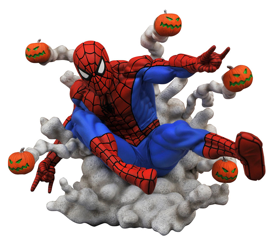 Marvel Comic Gallery Spider-Man Pumpkin Bombs PVC Statue