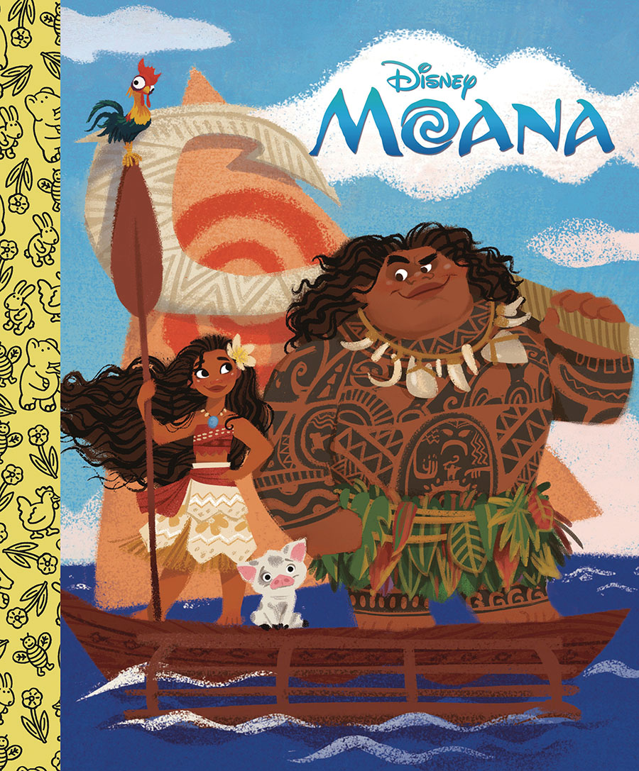 Disneys Moana Little Golden Board Book HC