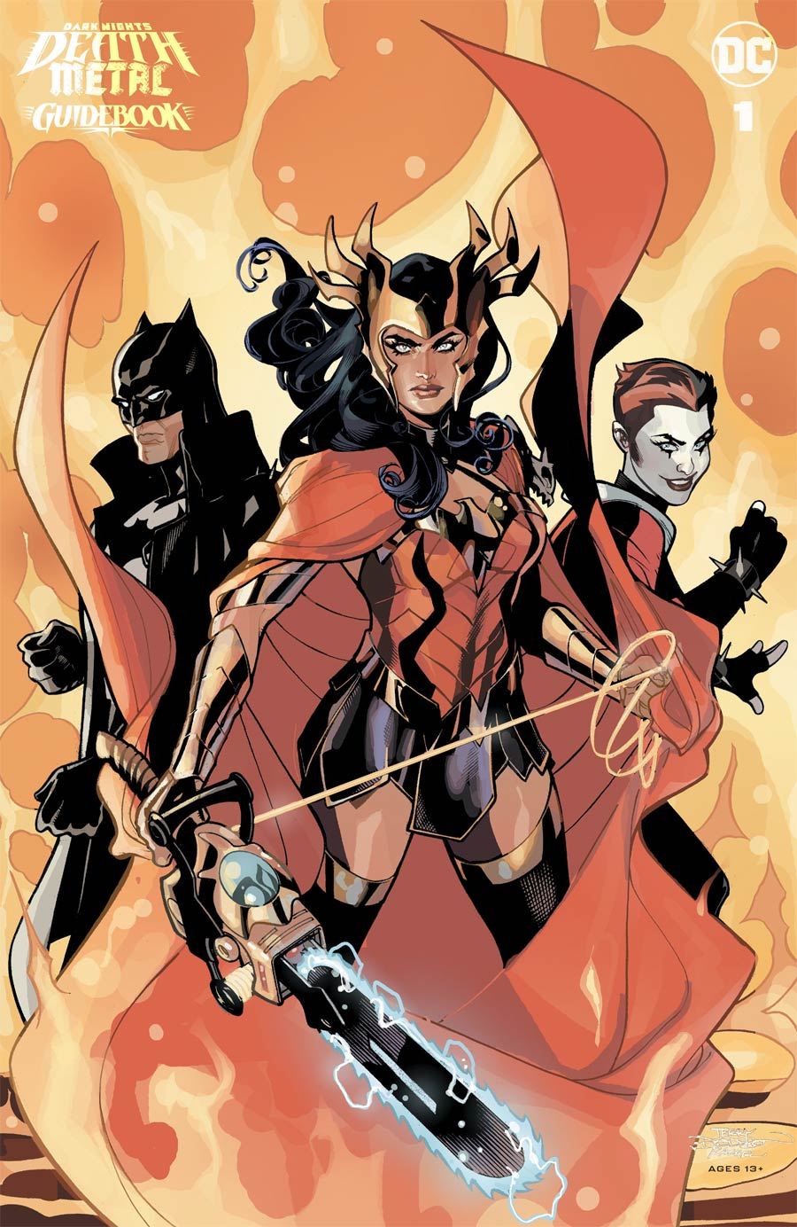 Dark Nights Death Metal Guidebook #1 Cover B Incentive Terry Dodson & Rachel Dodson Card Stock Variant Cover