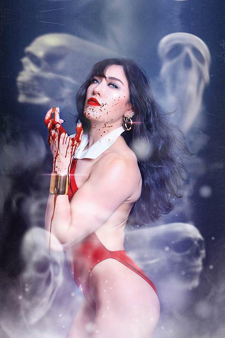 Vampirella Vol 8 #13 Cover O Incentive Krista Lee Cosplay Photo Virgin Cover