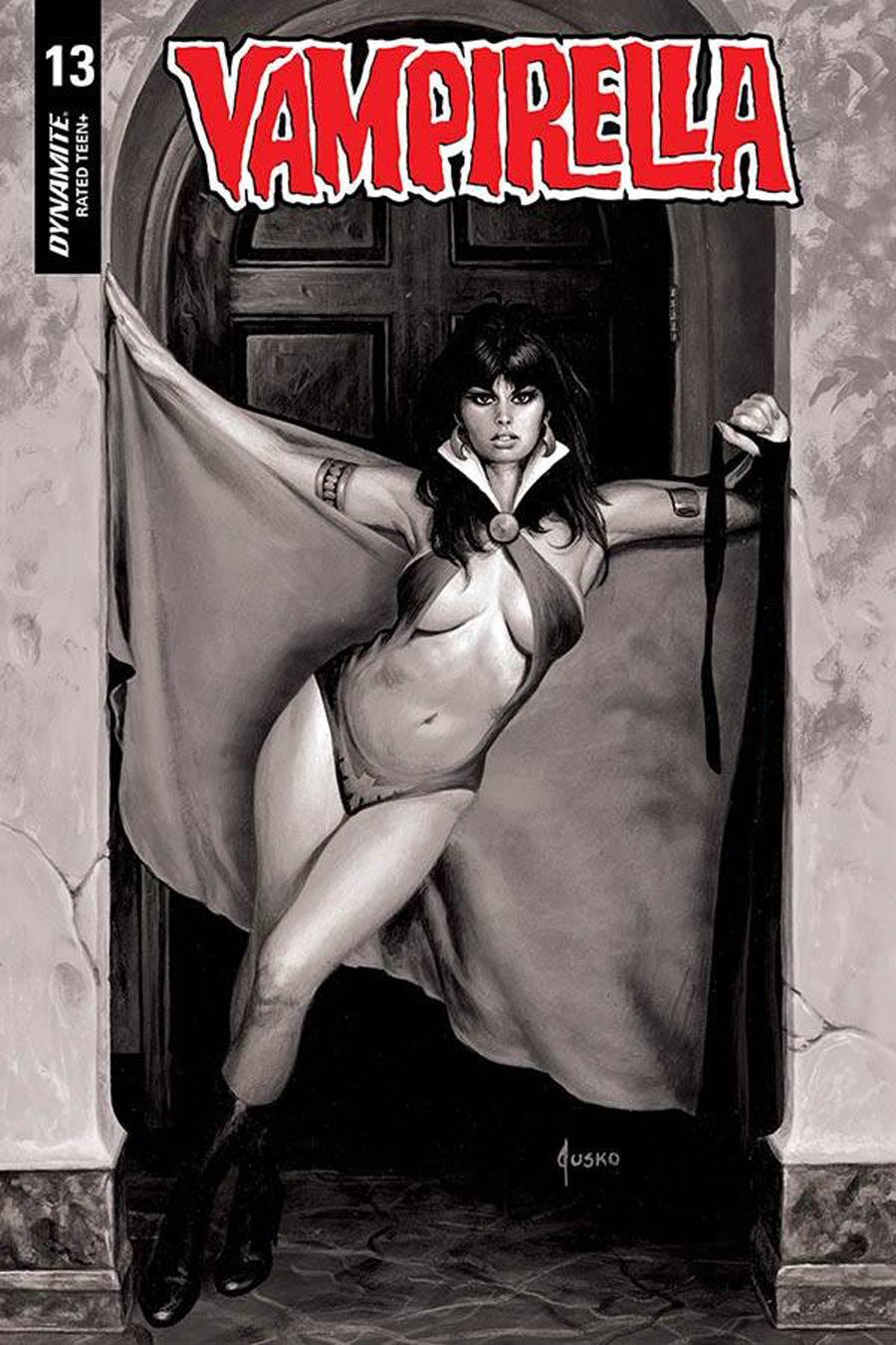 Vampirella Vol 8 #13 Cover R Incentive Joe Jusko Black & White Cover
