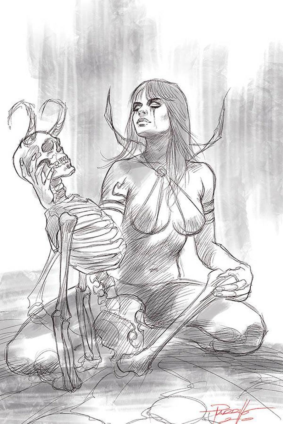 Vampirella Vol 8 #13 Cover S Incentive Lucio Parrillo Black & White Virgin Cover
