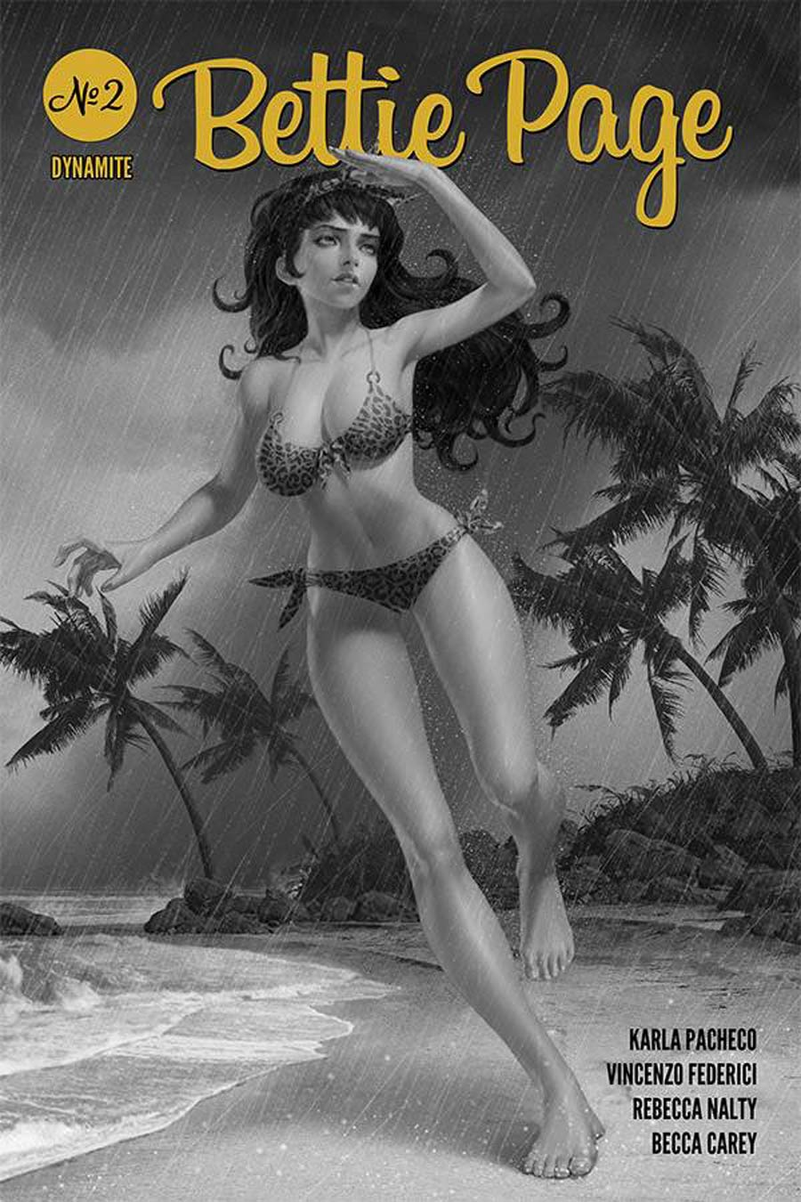 Bettie Page Vol 3 #2 Cover M Incentive Junggeun Yoon Black & White Cover