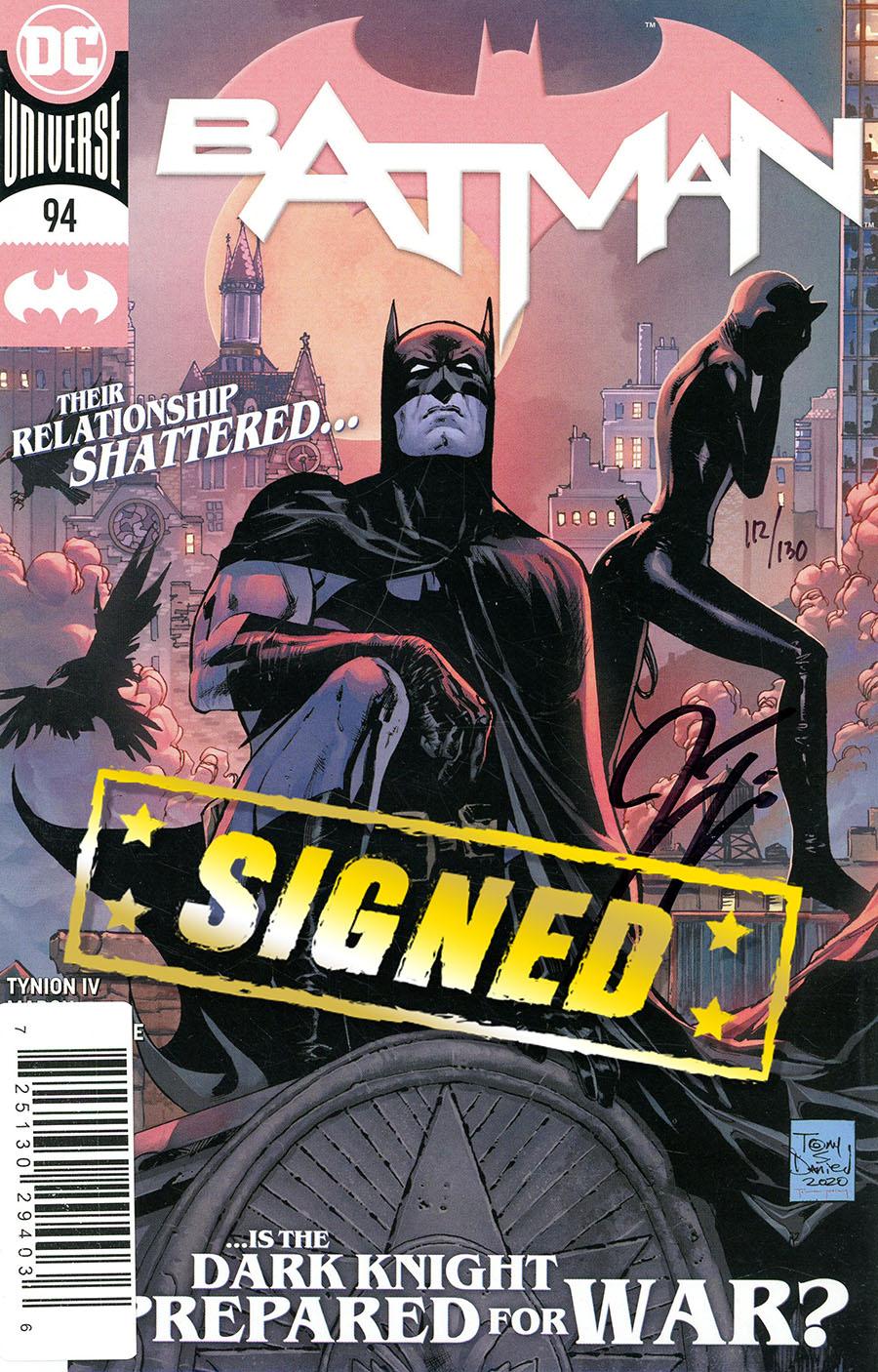 Batman Vol 3 #94 Cover D DF Signed By James Tynion IV (Joker War Tie-In)
