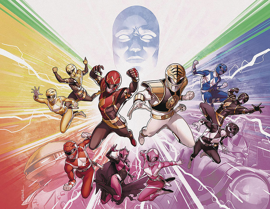 Mighty Morphin Power Rangers (BOOM Studios) #50 Cover H DF Foil Variant Cover Signed By Ryan Parrott