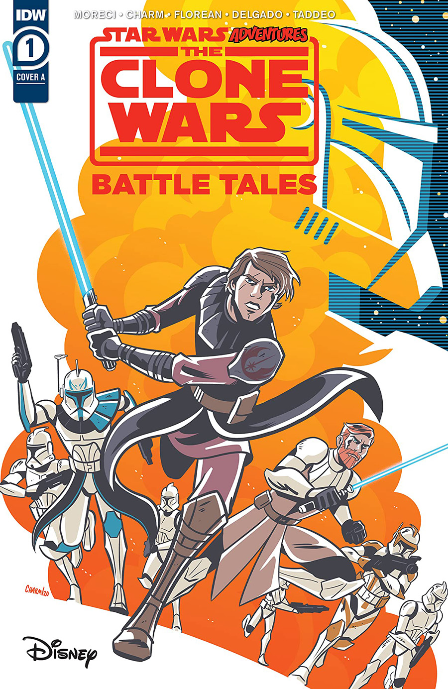 Star Wars Adventures Clone Wars Battle Tales #1 Cover D DF Signed By Michael Moreci