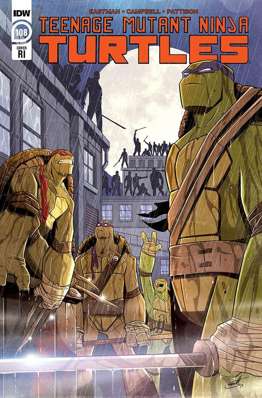 Teenage Mutant Ninja Turtles Vol 5 #108 Cover C Incentive Brett Brooks Variant Cover