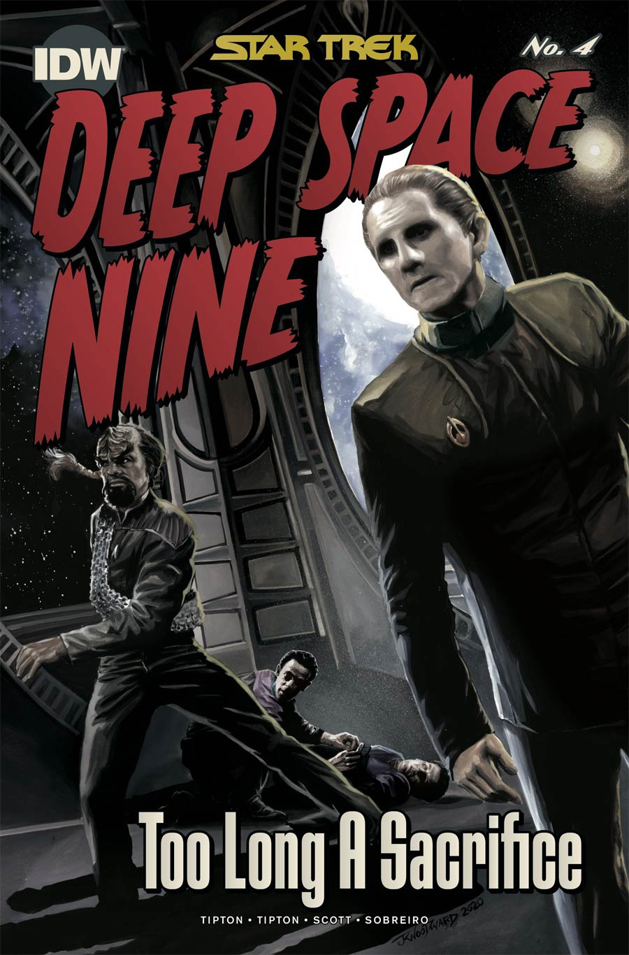 Star Trek Deep Space Nine Too Long A Sacrifice #4 Cover C Incentive JK Woodward Variant Cover