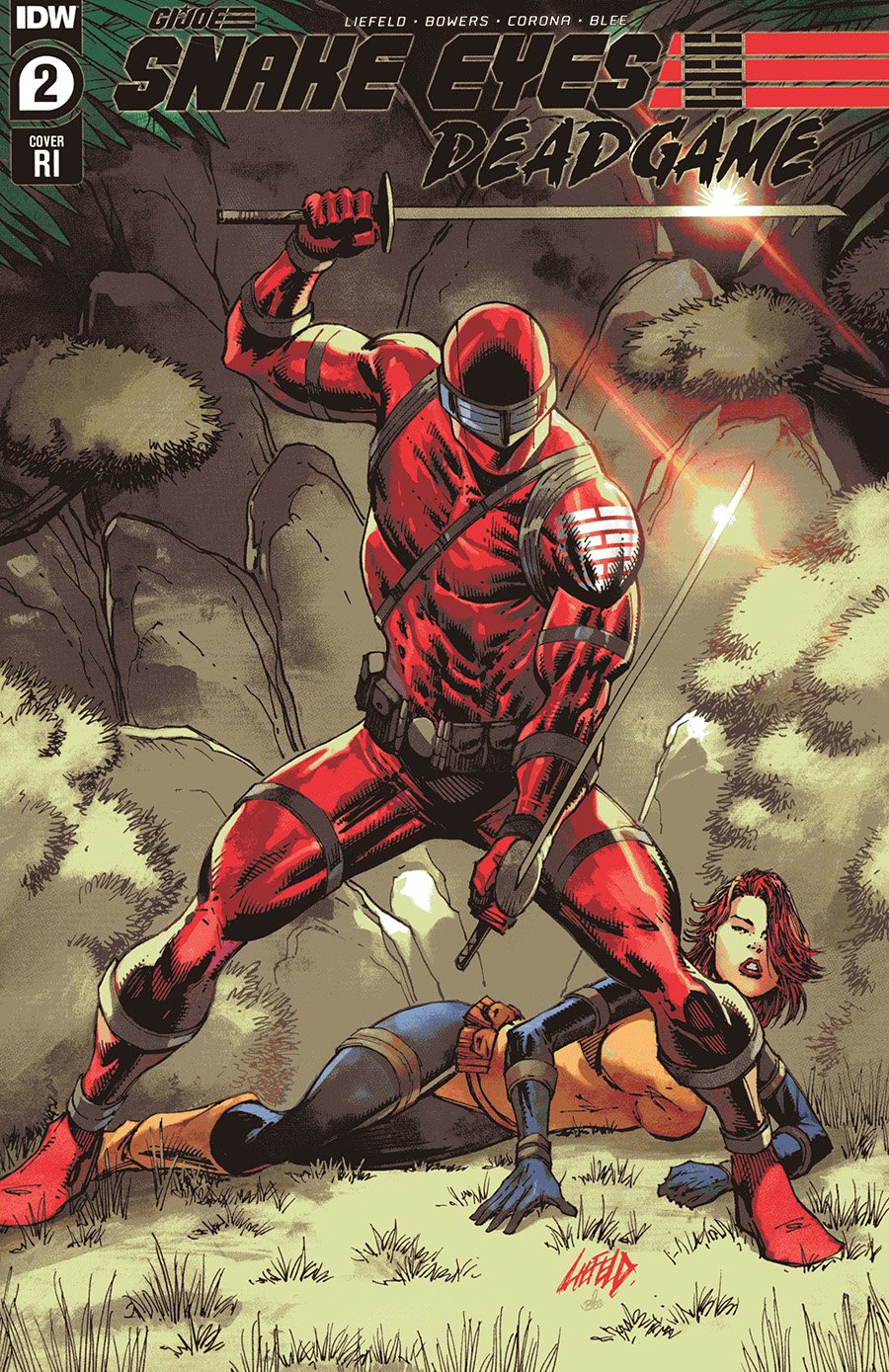Snake Eyes Deadgame #2 Cover C Incentive Rob Liefeld Red Costume Variant Cover
