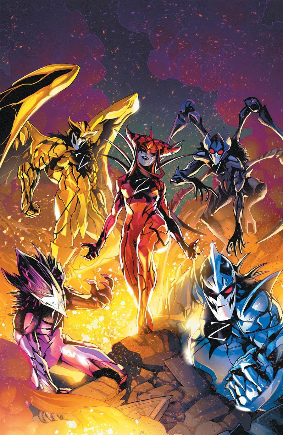 Mighty Morphin Power Rangers (BOOM Studios) #53 Cover D Incentive Jamal Campbell Variant Cover
