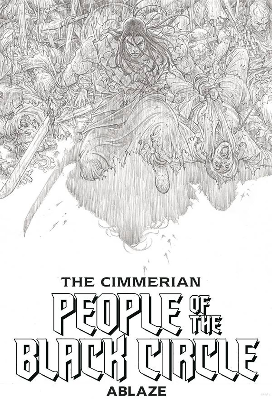 Cimmerian People Of The Black Circle #1 Cover H Incentive Black & White Artist Proof Edition