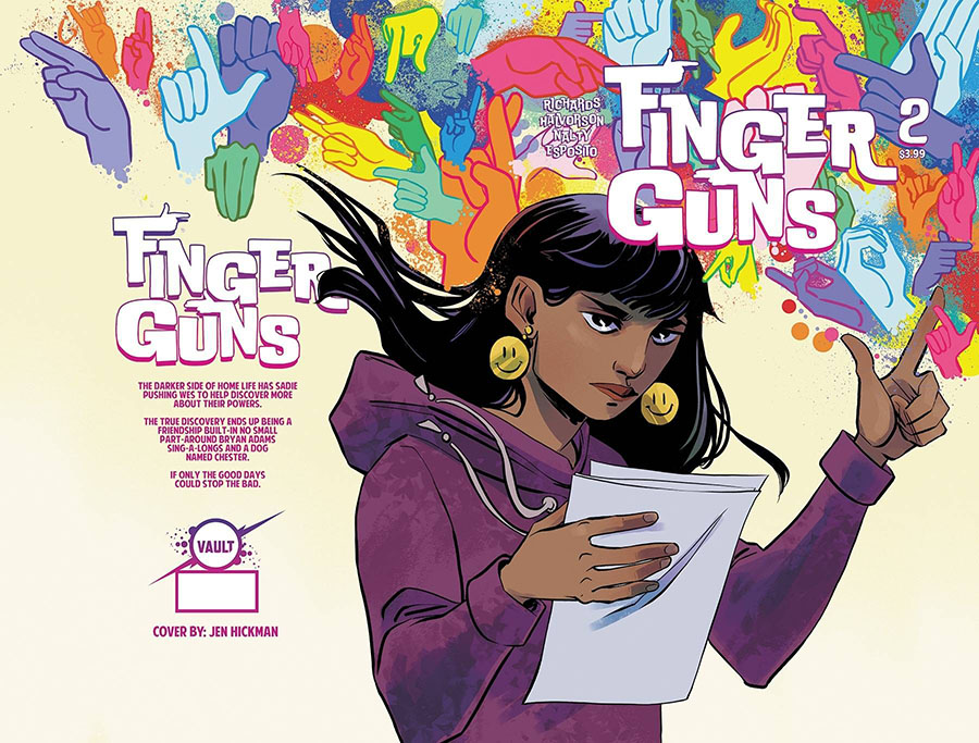 Finger Guns #2 Cover B Variant Jen Hickman Cover